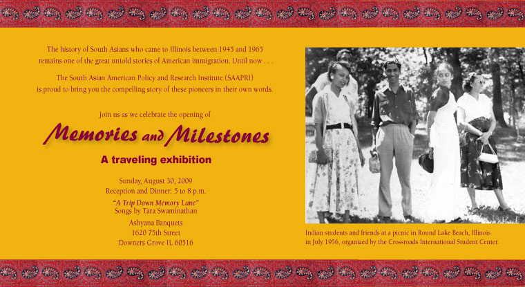 "SAAPRI Presents the ""Memories and Milestones"" exhibition"
