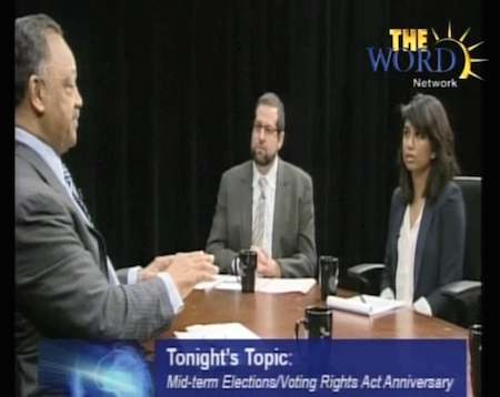 SAAPRI Discusses Voting Rights on UpFront with Rev. Jesse Jackson
