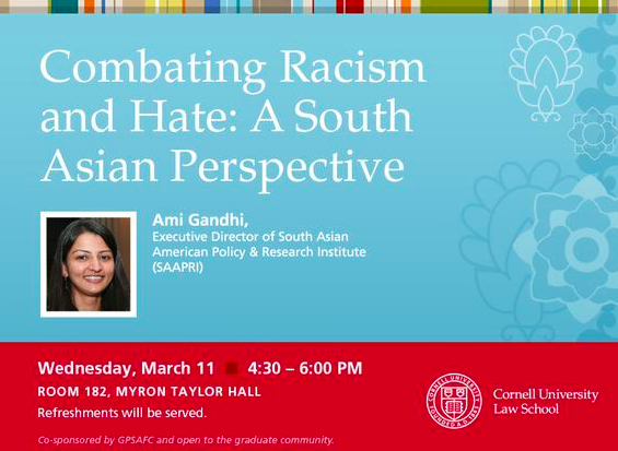 Combating Racism & Hate: Event at Cornell University