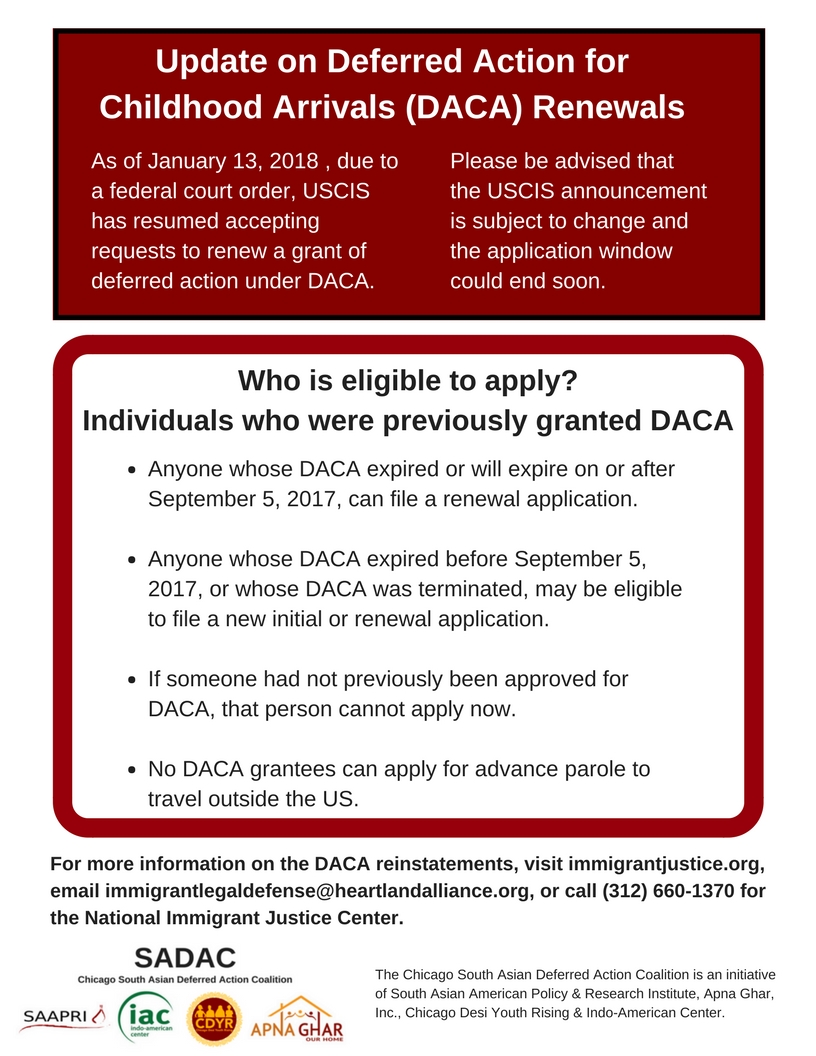 DACA Reinstatement Flyer